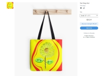 flower bag, sunflower bag, sunflower painting, sunflower painting